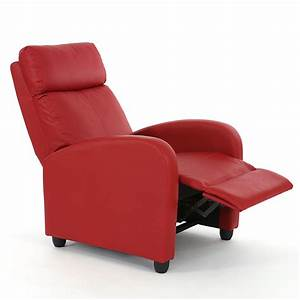 Moderne Relaxsessel Fernsehsessel : fernsehsessel relaxsessel liege sessel denver kunstleder rot ~ Indierocktalk.com Haus und Dekorationen