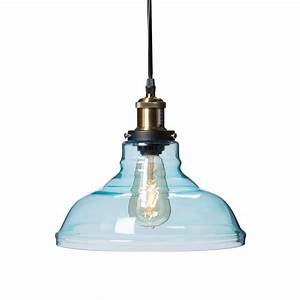 Witten light soft aqua colored glass pendant lamp