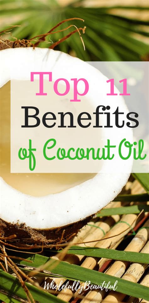 Coconut oil is known for a multitude of its benefits. Top 11 Benefits of Coconut Oil #coconut oil #wholefullybeautiful #SugarScrubForFace in 2020 ...