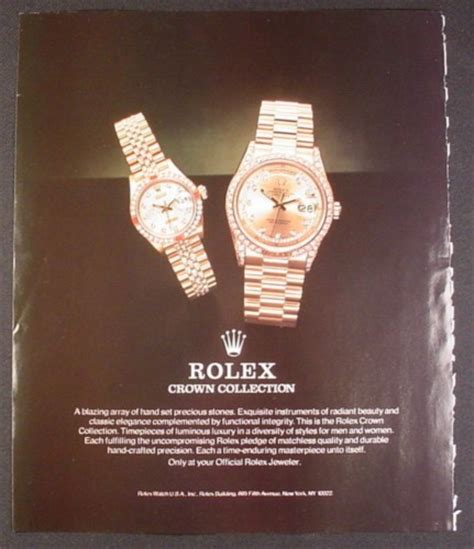 rolex magazine ads magazine ad for rolex crown collection watches 1988 9 by