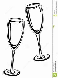 Sektgläser Schwarz Weiß : champagner glasses stock vector illustration of ~ Watch28wear.com Haus und Dekorationen