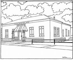 Beth Parker Art  Eufaula  Oklahoma Post Office  U2013 8 U2033 X 10