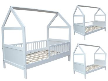 Micoland  Kinderbett  Juniorbett Haus 160 X 70 Cm Weiss