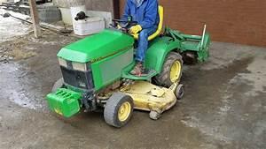John Deere 425 Mower With Tiller