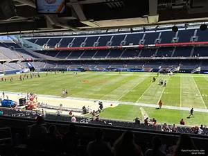 Redskins Field Seating Chart Media Deck Soldier Field Football Seating