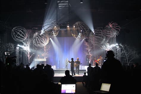 contact churchstagedesignideascom throwback spheres and trees church stage design ideas