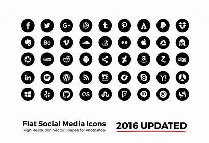 Social Icons Circle Simple Network Photoshop Res