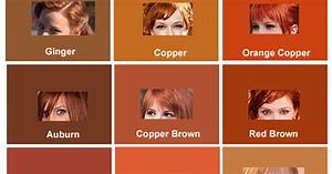 Hair Dye Colors Chart Red Hair Color Chart And Shades