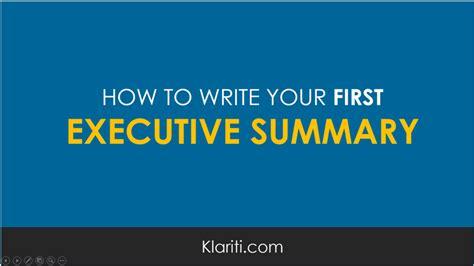 write   executive summary