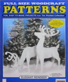 reindeer large size wood craft pattern