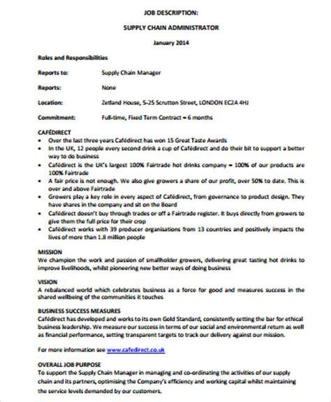 management description 3 4 description for a