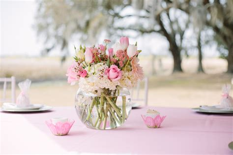 baby girl shower centerpieces pretty in pink a southern baby shower gigi noelle events