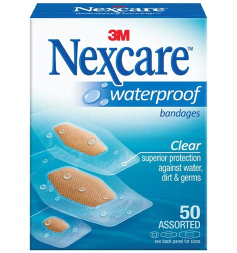recommended nexcare waterproof bandages