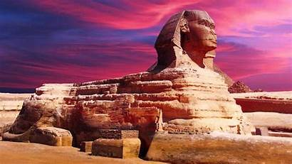 Sphinx Egypt Giza Egyptian Ancient Hyper Tangerine
