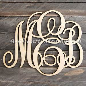 wooden monogram wall letters unpainted by monogramcustomart With personalized wall letters