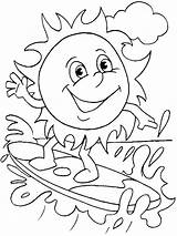 Coloring Sun Pages Bright Printable Choose Colors Favorite sketch template