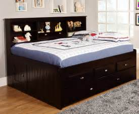 Discovery World 2923-K3-904-904-1 Full Bookcase Daybed w/ 3 Drawers & Trundle Espresso w/ Matts, encasements included