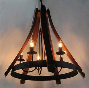 Buy a hand made cervantes wine barrel chandelier recycled