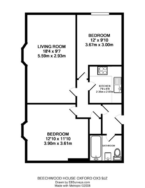 Two Bedroom House Plans by Beechwood House Headington Ox3 Ref 25010 Oxford