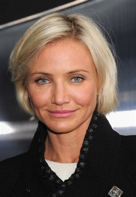 Cameron Diaz Short Hairstyle ? Chic Chin Length Bob Cut