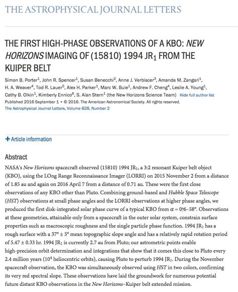 astrophysical journal letters exploring pluto and a billion beyond pluto new 24572