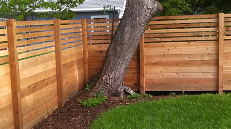Modern Horizontal Wood Fence Panels