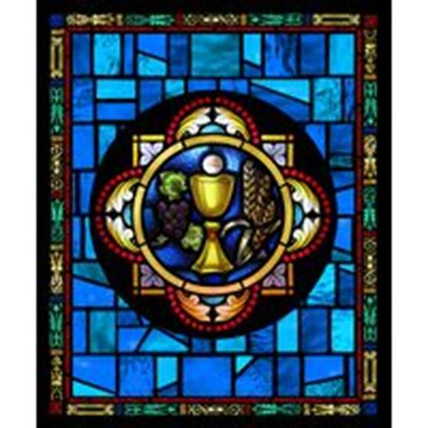 accent glass nc quot eucharist symbol quot religious stained glass window 3970
