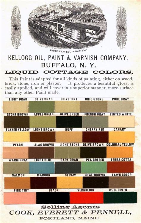 shades of the past authentic house paint color