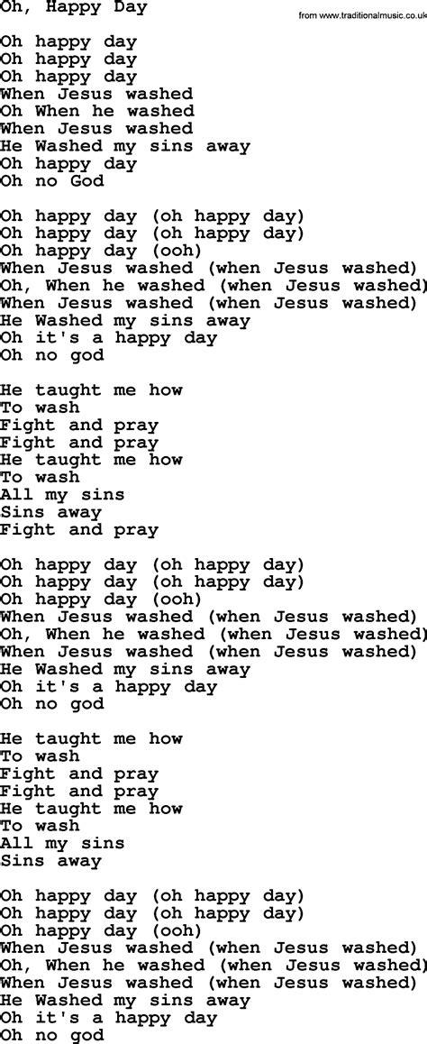 Testo Oh by Joan Baez Song Oh Happy Day Lyrics