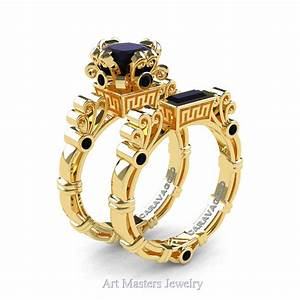 art masters caravaggio 14k yellow gold 15 ct princess With gold wedding ring earrings