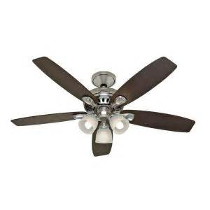 hunter highbury 52 in brushed nickel ceiling fan 28712