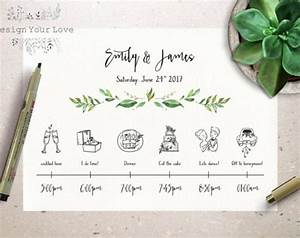 Wedding Weekend Timeline Template Customized Wedding Weekend Timeline Printable Wedding