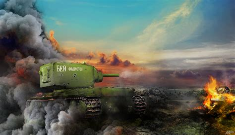 pictures world  tanks tanks kv games smoke