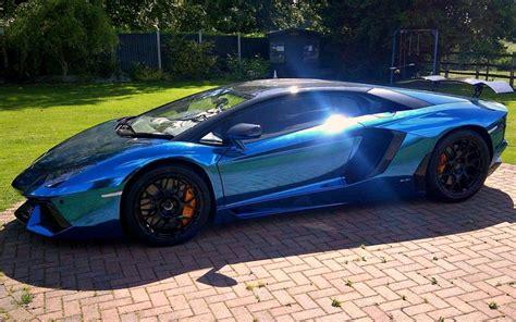 Blue Mirror Lamborghini Cars Hd Wallpaper