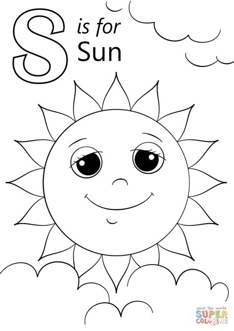 letter    sun coloring page  printable