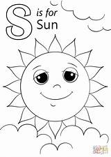 Coloring Sun Letter Pages Sunshine Printable Sheets Drawing Colouring Alphabet Letters Preschool Snake Template Supercoloring Books Spring Paper Beginning Adults sketch template