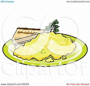 Clipart Illustration of Two Slices Of Toast Served With ...