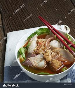 Thai Spicy Noodle Red Soupyong Tau Stock Photo 336208763 ...
