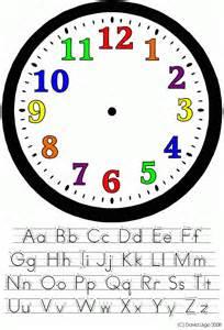 Printable Clock Face Kids