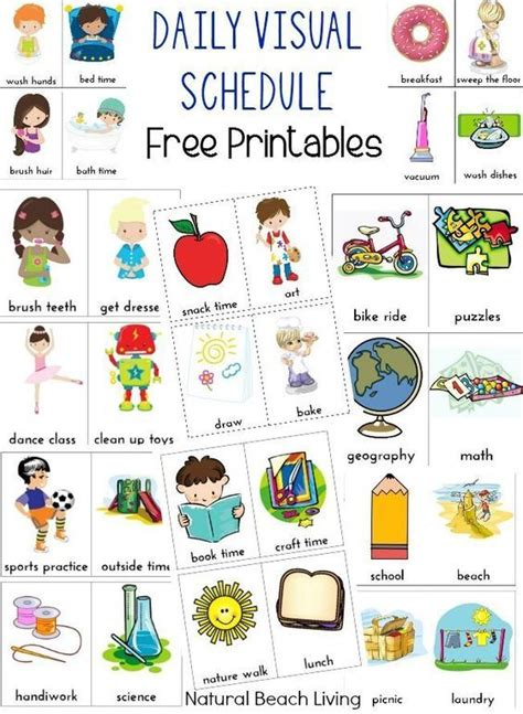 daily visual schedule for free printable 928 | fbce307c3040d1a169b60a088432d5b4 visual preschool schedule at home daycare schedule