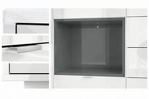 Meuble Haut Blanc Laqué : meuble buffet haut blanc brillant 6 portes novomeuble ~ Teatrodelosmanantiales.com Idées de Décoration