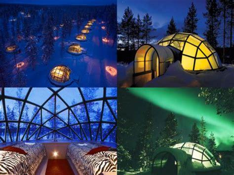 hotels to see northern lights kakslauttanen arctic resort in saariselkä finland watch