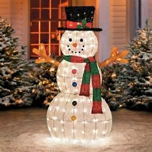 buy sale 48 quot outdoor lighted pre lit snowman sculpture yard decor by opensky