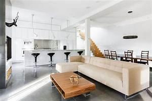 cuisine ouverte sur salon en 55 idees 3939open space3939 superbes With good plan d appartement 3d 9 amenagement sejourcuisine bureau