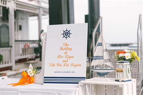 Boat Restaurant Marina South Pier by Cheerful Nautical Themed Wedding At Stewords Riverboat