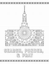 Temple Coloring Latter Saint Printables Misc sketch template