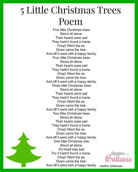 christmas tree poems for kids temasistemi net