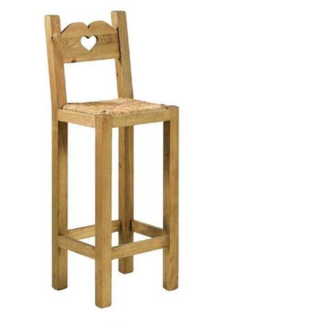 chaise de cuisine hauteur 65 cm tabouret de bar en bois avec dossier cuisine en image