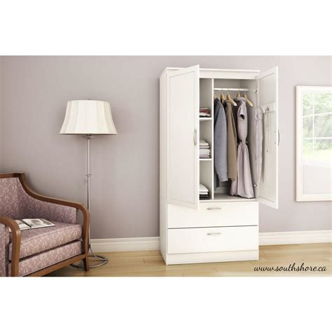 White Armoire by South Shore Acapella White Armoire 5350038 The Home