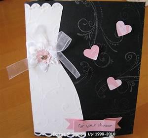 Bridal shower card stamping with karen for Card for wedding shower